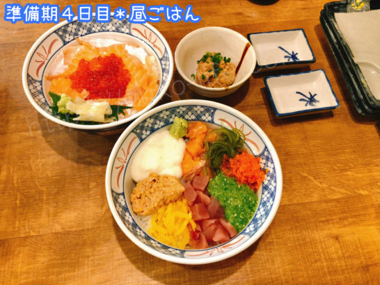ファスティングダイエット準備期4日目の昼食